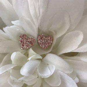Authentic Swarovski Crystal heart earings